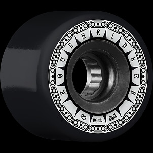 BONES WHEELS ATF Rough Rider Tank Skateboard Wheel 59mm 80a 4pk Black