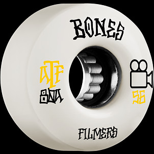 BONES WHEELS ATF Skateboard Wheels Filmers 56mm 80A 4pk