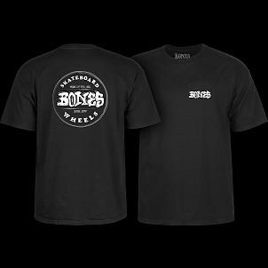 BONES WHEELS Heritage Stamp T-Shirt Black