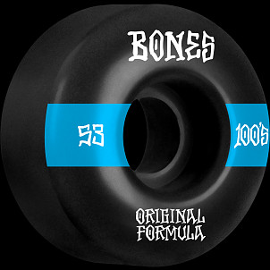 BONES WHEELS OG Formula Skateboard Wheels 100 #14 53mm V4 Wide 4pk Black