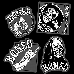 BONES WHEELS Terror Nacht Sticker 20pk