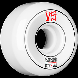 BONES WHEELS STF Annuals Skateboard Wheels Sidecuts 55mm 4pk White