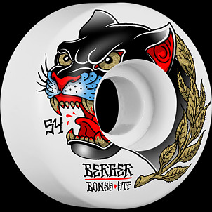 BONES WHEELS STF Pro Berger Panther Skateboard Wheels V3 Slims 54mm 4pk