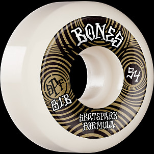 BONES WHEELS SPF Skateboard Wheels Ripples 54mm P5 Sidecut 81B 4pk White