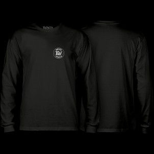 BONES WHEELS Branded L/S T-shirt Black