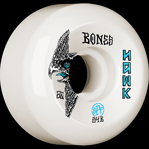 BONES WHEELS SPF Pro Hawk Bird''s Eye Skateboard Wheels P5 Sidecut 60mm 84B 4pk White