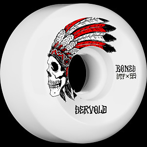 BONES WHEELS STF Pro Servold Spirit Skateboard Wheels V5 Sidecut 55mm 103A 4pk