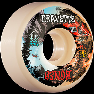 BONES WHEELS PRO STF Skateboard Wheels Gravette Heaven & Hell 52mm V2 Locks 99a 4pk