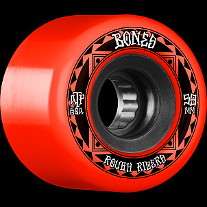 BONES WHEELS ATF Rough Rider Skateboard Wheels Runners 59mm 80a 4pk Red