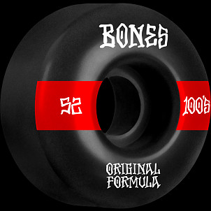 BONES WHEELS OG Formula Skateboard Wheels 100 #14 52mm V4 Wide 4pk Black