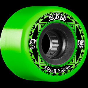 BONES WHEELS ATF Rough Rider Skateboard Wheels Runners 59mm 80a 4pk Green