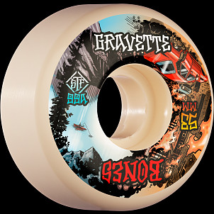 BONES WHEELS PRO STF Skateboard Wheels Gravette Heaven & Hell 53mm V2 Locks 99a 4pk