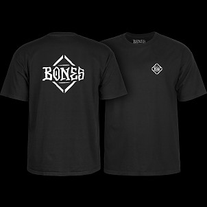 BONES WHEELS Diamond T-shirt Black