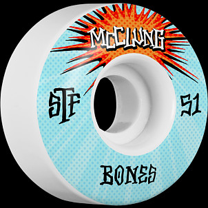 BONES WHEELS STF Pro Trent McClung Blast Skateboard Wheels V1 51mm 103A 4pk