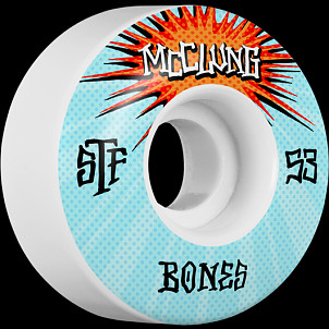 BONES WHEELS STF Pro McClung Blast Skateboard Wheels V1 53mm 103A 4pk