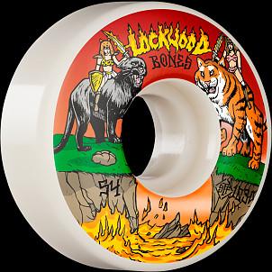 BONES WHEELS PRO STF Skateboard Wheels Lockwood Cat Fight 54mm V3 Slims 103A 4pk