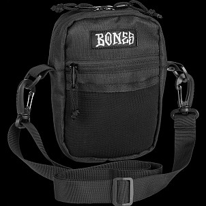 "BONES WHEELS Shoulder Bag Black 6"" x 5"""