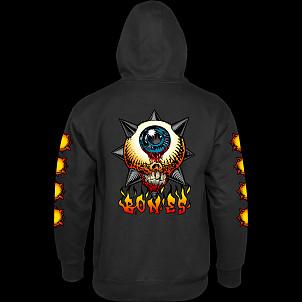 BONES WHEELS Hooded Sweatshirt Iron Sun Black