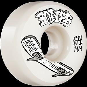BONES WHEELS STF Skateboard Wheels Heritage Boneless 54mm V1 Standard 103A 4pk