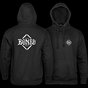 BONES WHEELS Diamond Sweatshirt Hooded Black