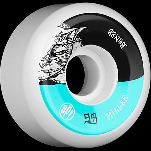 BONES WHEELS SPF Pro Miller Guilty Cat Skateboard Wheels P5 Sidecut 58mm 104A 4pk