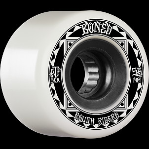 BONES WHEELS ATF Rough Rider Skateboard Wheels Runners 56mm 80a 4pk White