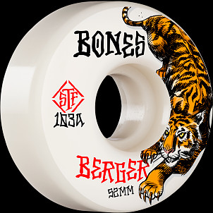 BONES WHEELS PRO STF Skateboard Wheels Berger The Hunter 52mm V3 Slims 103A 4pk