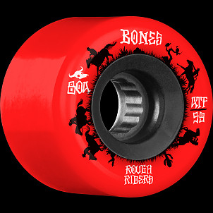 BONES WHEELS ATF Rough Rider Skateboard Wheels Wranglers 59mm 80a 4pk Red