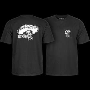 BONES WHEELS Night Mare T-shirt - Black