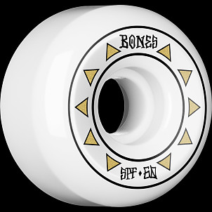BONES WHEELS SPF Arrows Skateboard Wheels 81B 60mm 4pk White P5 Sidecut