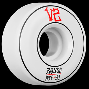 BONES WHEELS STF Annuals Skateboard Wheel Locks 51mm 4pk White