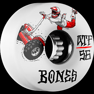 BONES ATF SEG Cross 56x34  Skateboard Wheel 80a 4pk