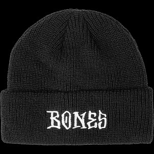 BONES WHEELS Stitch Beanie Black