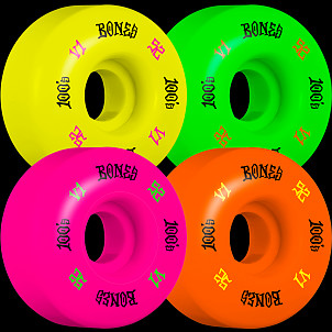 BONES WHEELS 100's Party Pack #4 OG Formula Skateboard Wheels 52mm 100A 4pk Multi