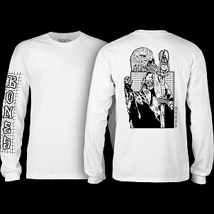 BONES WHEELS Night Shift Longsleeve T-shirt - White