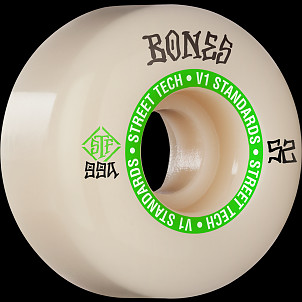 BONES WHEELS STF Skateboard Wheels Ninety-Nines 52mm V1 Standard 99a 4pk