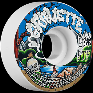 BONES WHEELS STF Pro Gravette Outdoorsman Skateboard Wheels V2 Locks 53mm 4pk
