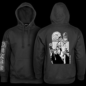 BONES WHEELS Night Shift Hooded Sweatshirt - Black