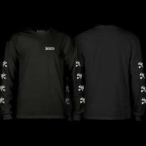 BONES WHEELS L/S T-shirt Steve Black