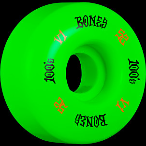 BONES WHEELS 100 Skateboard Wheels V1 Standard 52mm 100A 4pk Green