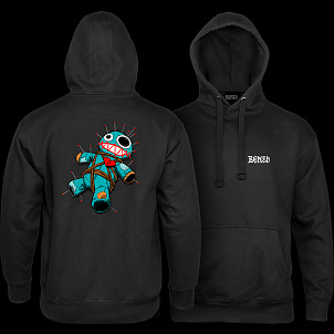 BONES WHEELS VooDoo Hooded Sweatshirt Black
