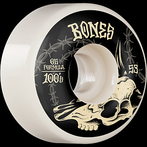 BONES WHEELS OG Formula Skateboard Wheels Desert Skull 53mm V4 Wide 4pk White