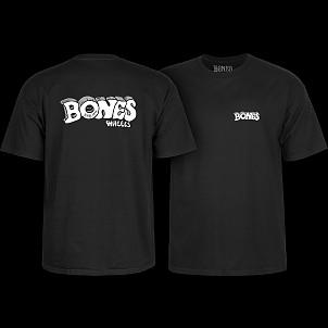 BONES WHEELS Heritage Stoned T-Shirt Black