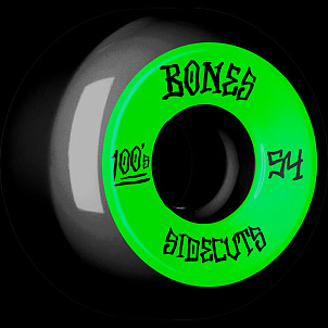 BONES WHEELS 100 #2 V5 Skateboard Wheel 54mm 4pk Black V5 Sidecut