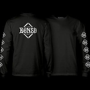 BONES WHEELS Diamond L/S T-shirt Black