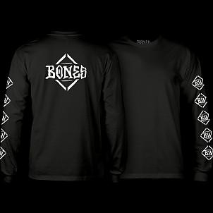 BONES WHEELS Diamond L/S T-shirt Black