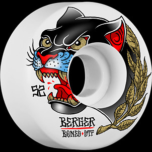 BONES WHEELS STF Pro Berger Panther Skateboard Wheels V3 Slims 52mm 4pk