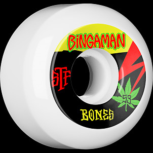 BONES WHEELS STF Pro Bingaman Attitude Skateboard Wheel V5 53mm 103A 4pk