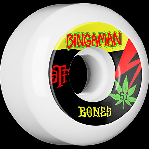 BONES WHEELS STF Pro Bingaman Attitude Skateboard Wheel V5 55mm 103A 4pk