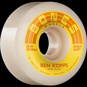 BONES WHEELS PRO STF Skateboard Wheels Koppl Rollersurfer 56mm V6 Wide-Cut 99a 4pk